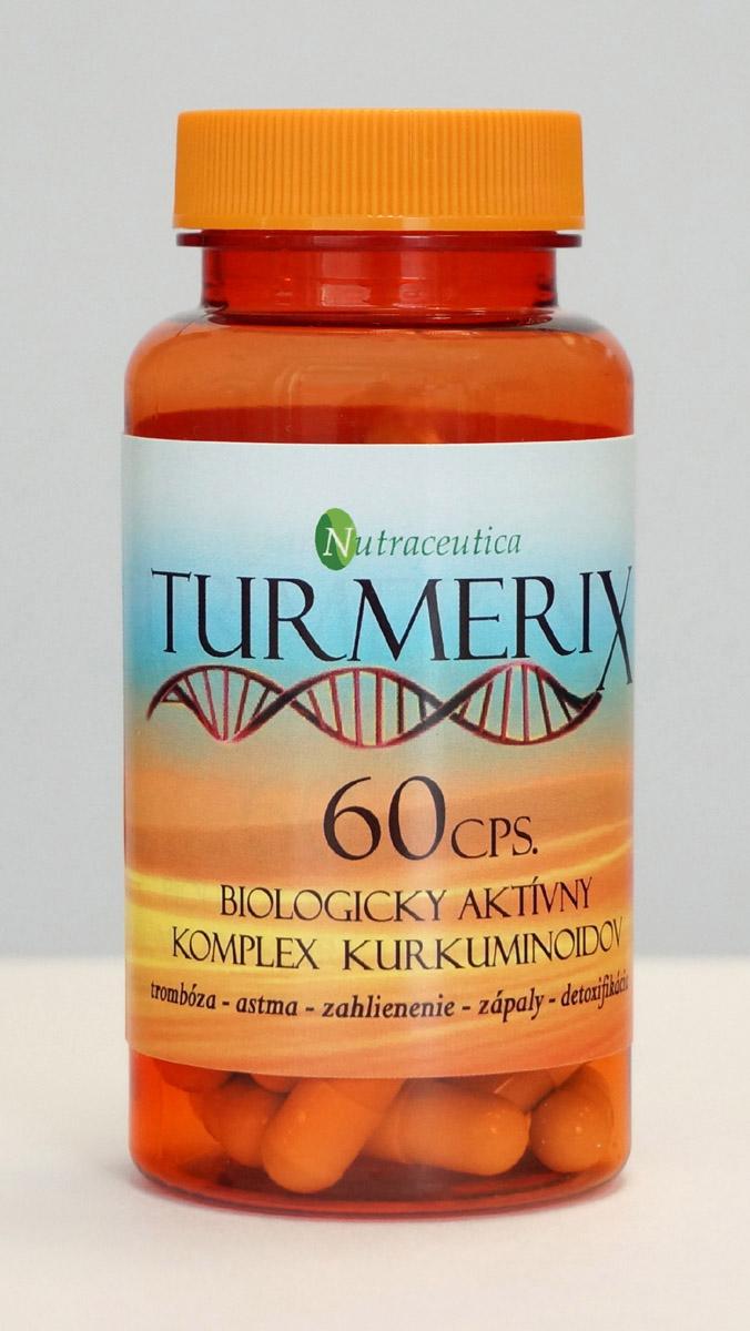 Turmerix - kapsle s obsahom prírodných kurkuminoidov